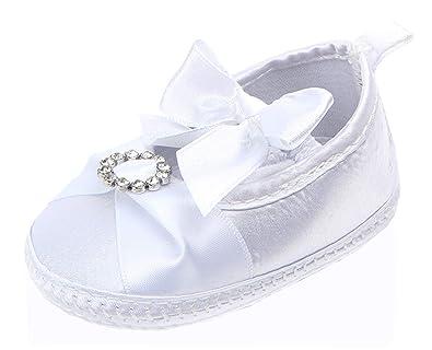 7a562357123889 Lukis Baby Girls Cotton Rhinestone Bowknot Princess Shoes Newborn Babys Prewalker  Soft Sole Crib Shoes  Amazon.co.uk  Shoes   Bags