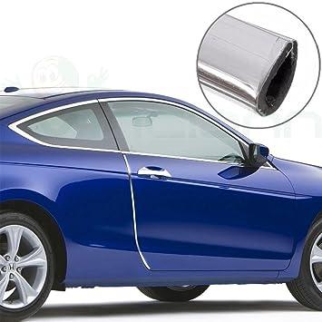 4 x tiras de protector de puertas de coche, Perfil cromado, parachoques, coche, Tuning: Amazon.es: Electrónica