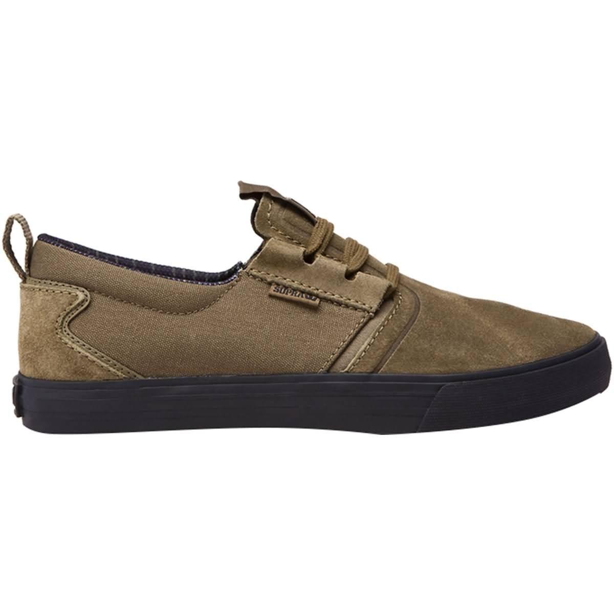 Supra Men's Flow Shoes 9 M US|Olive-black
