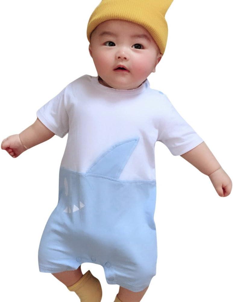 QinMM Mono Tiburón para bebé Niña y Niño, Body Camisa de Manga Corta: Amazon.es: Ropa y accesorios