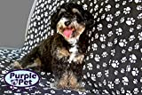 Pet Seat Cover for Cars by Purple Pet | Black and White Doggy Design - Waterproof - Durable - Padded | Dog Hammock Fits Most Autos - SUV - Trucks | Great For Big Dogs | Full Warranty Included