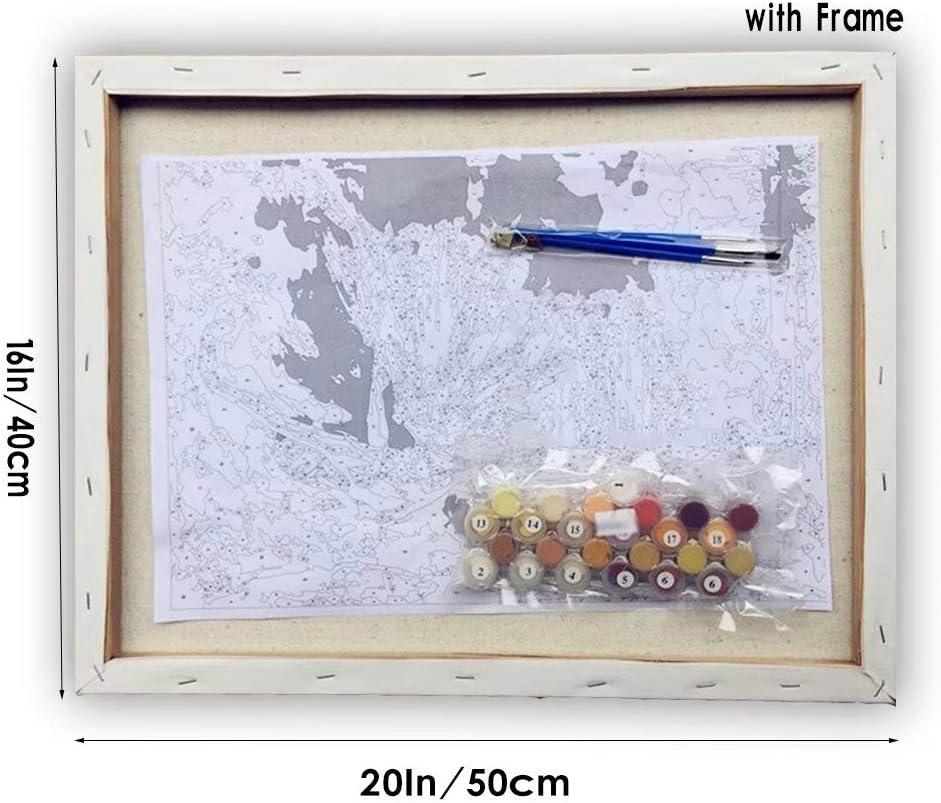 vernice di numero kit pittura per adulti pittura dipinta a mano Wall Animal panno soggiorno decorazione pittura 40/* 50/cm Dog 5D DIY Digital pittura
