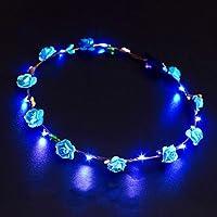 LED corona que brilla intensamente corona de la
