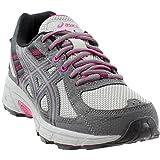 ASICS Women's Gel-Venture 6 Running-Shoes,Carbon/Black/Pink Peacock,9 D US