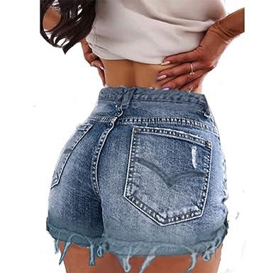 fb35cde6eb Sevozimda Femmes Casual Taille Haute Ringered Bordées Chaude Jeans Denim  Shorts: Amazon.fr: Vêtements et accessoires