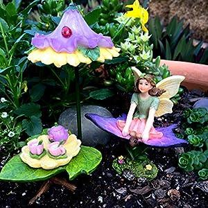 pretmanns fairy garden accessories kit miniature fairy garden fairy supplies for a fairy garden 8 pieces