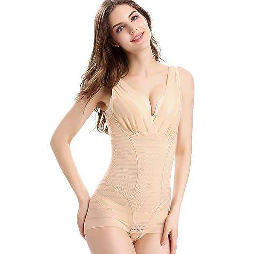7d15f6ceca4fb MOVWIN Women s Body Shaper,Adjustable Tummy Control Seamless Firm Shapewear  Bodysuit Open Bust Bodysuit Waist
