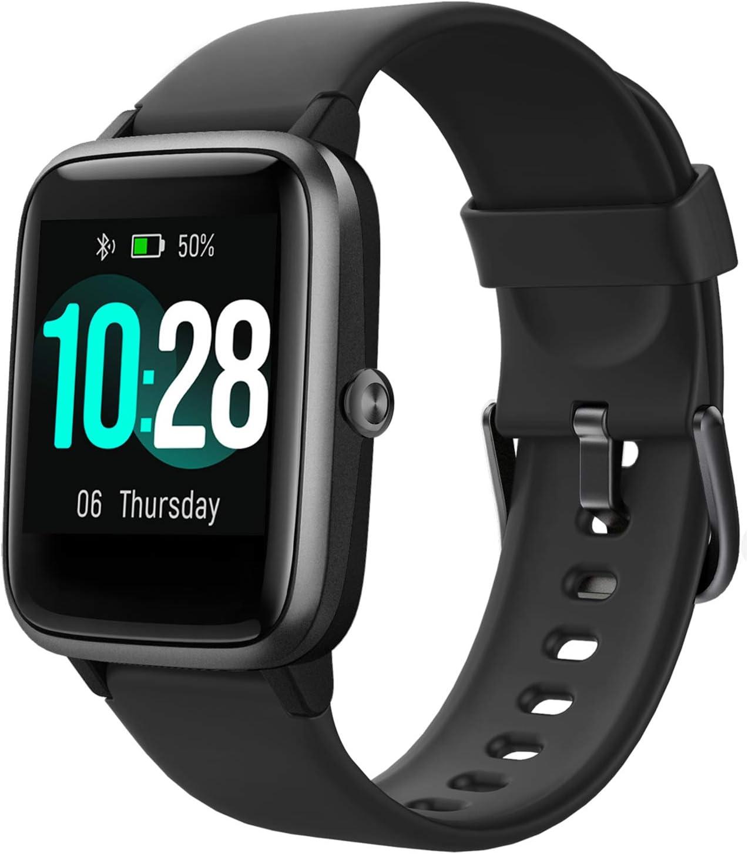 HAFURY Smartwatch, Reloj Inteligentecon Impermeable IP68 con Pulsómetro Cronómetros, Calorías Monitor de Sueño Podómetro Pulsera Pulsómetros Hombre y Mujer Reloj Deportivo para Android iOS, Negro