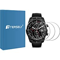 T Tersely (3 Pack) Screen Protector for Ticwatch Pro, 9H Hardness Tempered Glass Screen Protector Film Guard for…