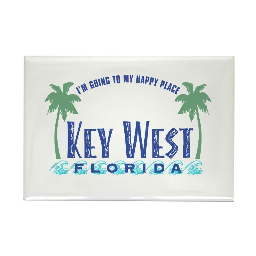 - Rectangle Magnet Key West Happy Place CafePress 2x3 Refrigerator Magnet