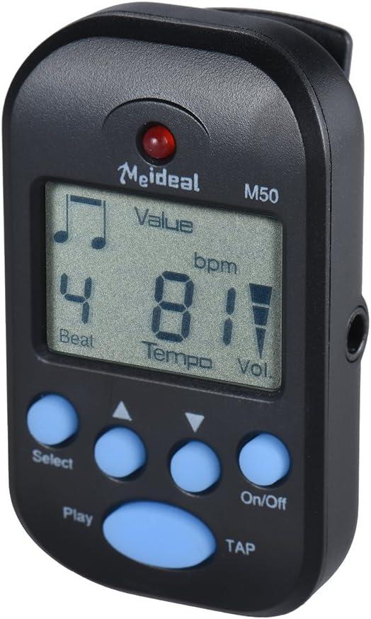ammoon Digital M/étronome Clip sur Digital Screen Battre Tempo M/étronome LCD L/éger et Mini pour Violon Guitare Basse Instrument de Musique Noir