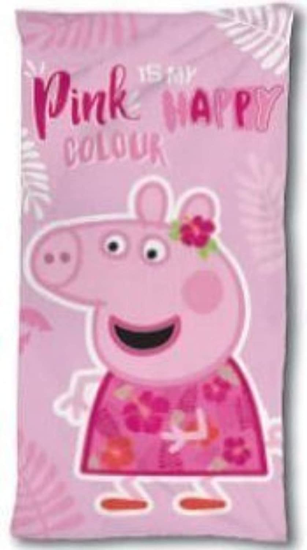 Pink is my Happy Colour 140 x 70 cm Wizarding World Toalla de Ba/ño Playa Piscina Cerdita Peppa Pig