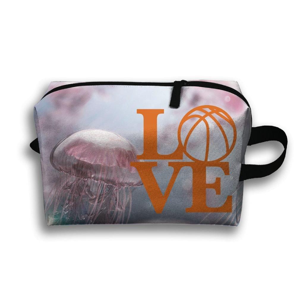 Love Basketball Travel Bag Multifunction Portable Toiletry Bag Organizer Storage