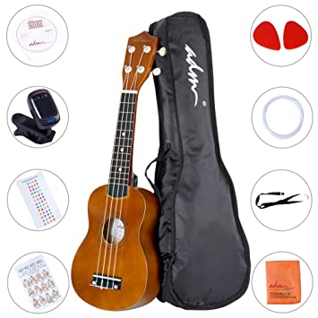 Amazon Adm Ukulele 21 Inch Soprano Wood Starter Beginner Kit
