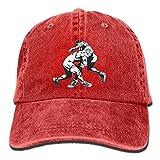 FBGVFD USA Wrestling Logo Baseball Caps Patriotic Plain/Flat Snapback Hat for Adults