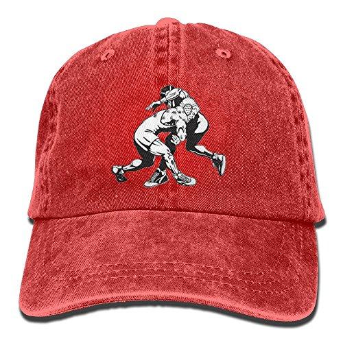FBGVFD USA Wrestling Logo Baseball Caps Patriotic Plain/Flat Snapback Hat for Adults by FBGVFD