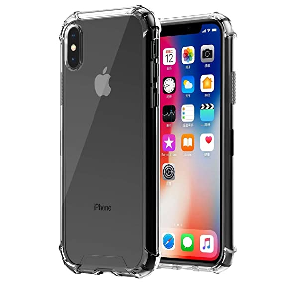 Phone Case For Iphone X Transparent Hard Plastic Back And Soft Tpu Gel Bumper Transparent Cover Vr