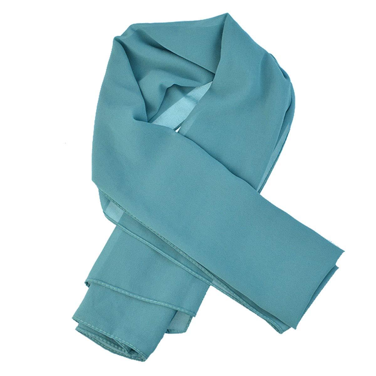 Wobe 3pcs Women Soft Chiffon Scarves Shawl Long Scarf, Travel Sunscreen Summer Beach Cover Wrap Bridal Hijab Scarf Muslin Head Scarves by Wobe (Image #4)