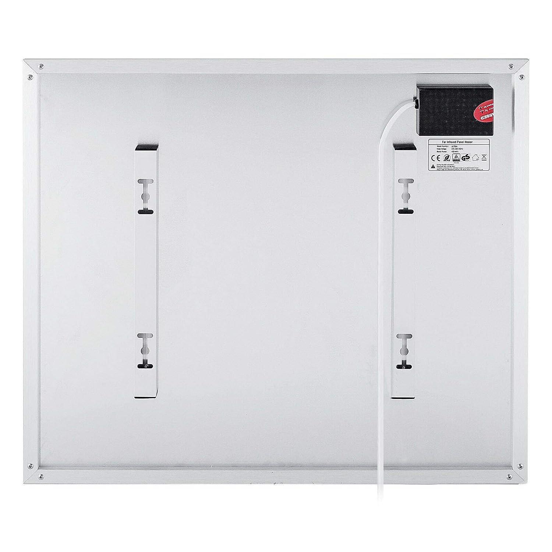FlowerW 700W Infrarotheizung Heizpaneel Infrarot Heizk/örper Raumheizung Thermostat 450W