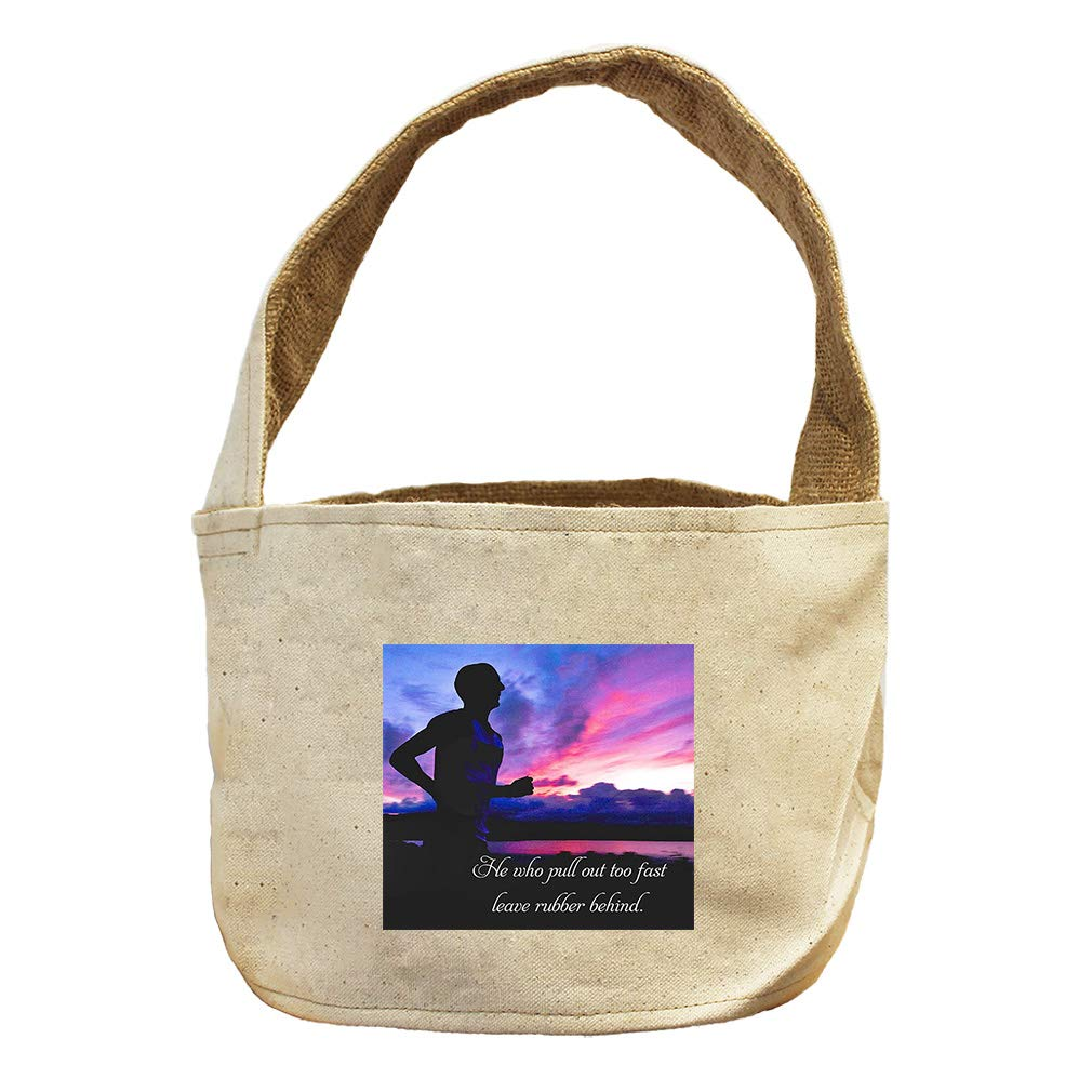 He Who Stick Open Window Get Pane in Neck. Canvas and Burlap Storage Basket