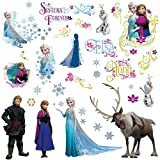 #10: RoomMates RMK2361SCS Frozen Peel and Stick Wall Decals, 36 Count