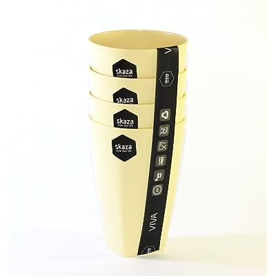 """""""Viva"""" Lot de 4gobelets 300ml Verres à boissons Plastique PE résistante aux chocs et résistant aux températures élevées Idéal pour l'extérieur Sans"""