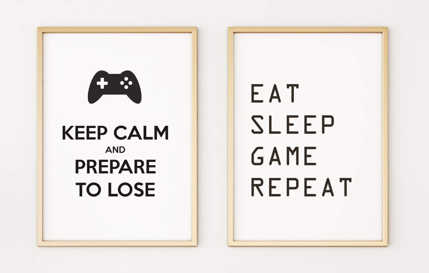 Set of 2 Gaming A4 Poster Prints