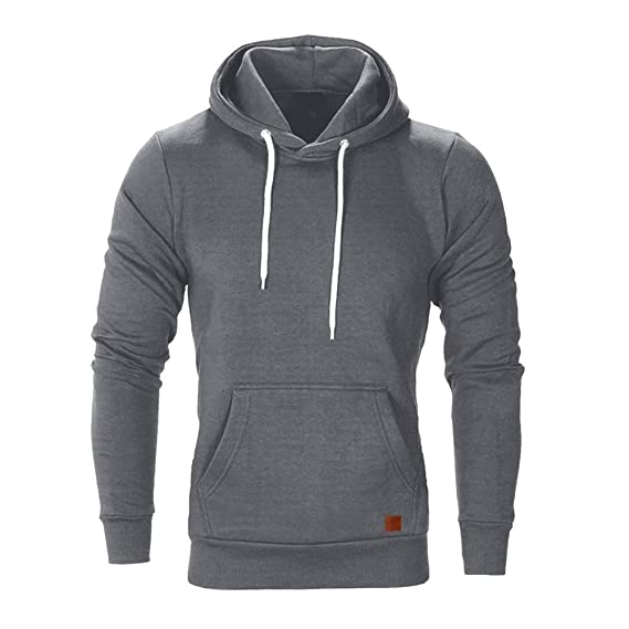 Amazon.com: Easytoy Hoodies for Men, Mens Solid Slim Fot Pullover Hooded Sweatshirt Kanga Pocket: Sports & Outdoors