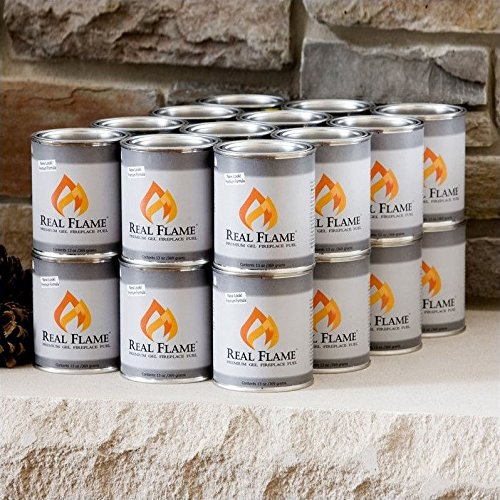 Real Flame 24 Pack of 13 oz Gel Fuel Cans for Fireplace