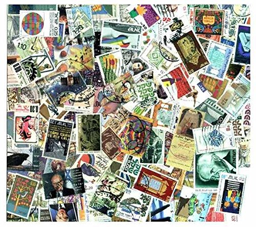 Israel Stamp Collection - 300 Different Stamps