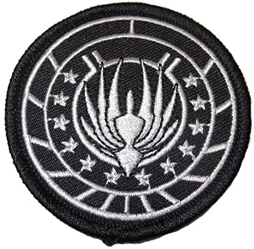 [Battlestar Galactica BSG 75 Marines Black Logo PATCH] (Galactica Costumes)