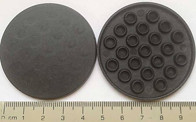 Grey 50mm x 2 Large Round Italian Buttons