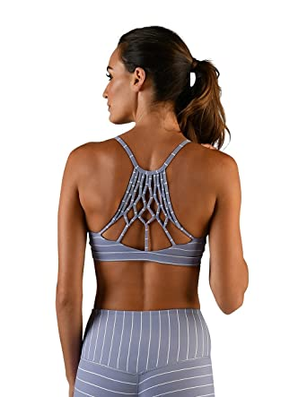 86cd672297aad Image Unavailable. Image not available for. Color  Glyder Energy Bra  Silver  ...