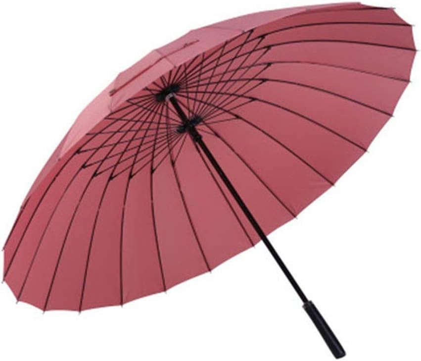 Paraguas Recto Coche de 24 Huesos, 2 3 Personas, Hembra, Macho, Grande, Resistente al Viento, Paraguas corporativo Pale Pinkish Gray