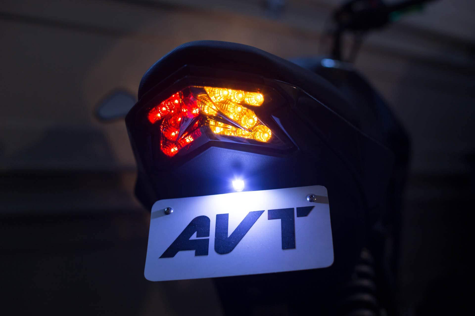 AVT z125 Pro Fender Eliminator Kit 2017-2019 - LED Integrated Turn Signals Tail Light by AVT