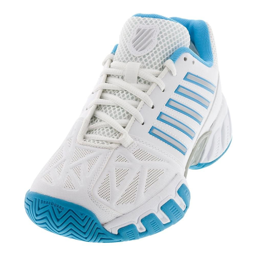 K-Swiss Bigshot Light 3 Womens Tennis Shoe B07BH3KB2R 8 B(M) US|White/Aquarius/Silver