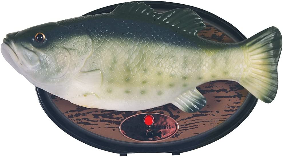 """Big Mouth Billy Bass the Singing Sensation Sings """"I Will Survive"""" and """" Dont Worry Be Happy"""" with Motion"""
