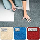 Peel & Stick Berber Carpet Tiles Set of 10 Gray By Jumbl