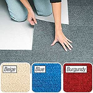 Peel And Stick Burgundy Berber Carpet Tiles 12 Quot X12 Quot Set Of