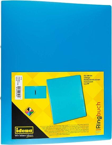 Idena 224334 – Archivador (DIN A4, 2 anillas, color turquesa: Amazon.es: Oficina y papelería