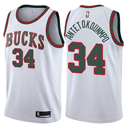 3ef369afadc3 Jordan Men s 2017-18 Milwaukee Bucks  34 Giannis Antetokounmpo White Return  to MECCA Classic