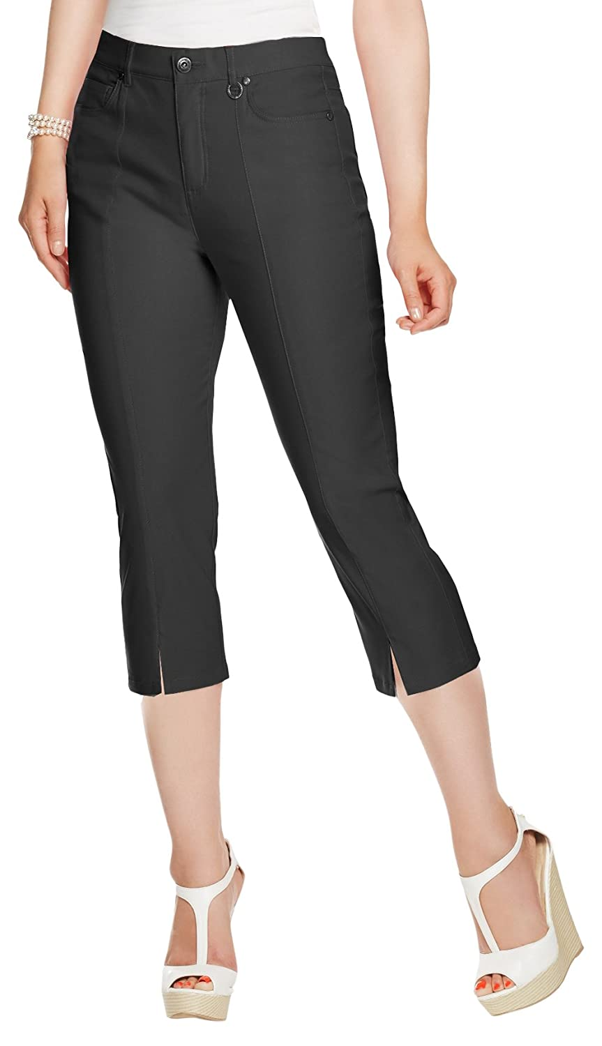 76b23af8029 Simon Chang Canada Womens Micro Twill Capri at Amazon Women s Clothing  store