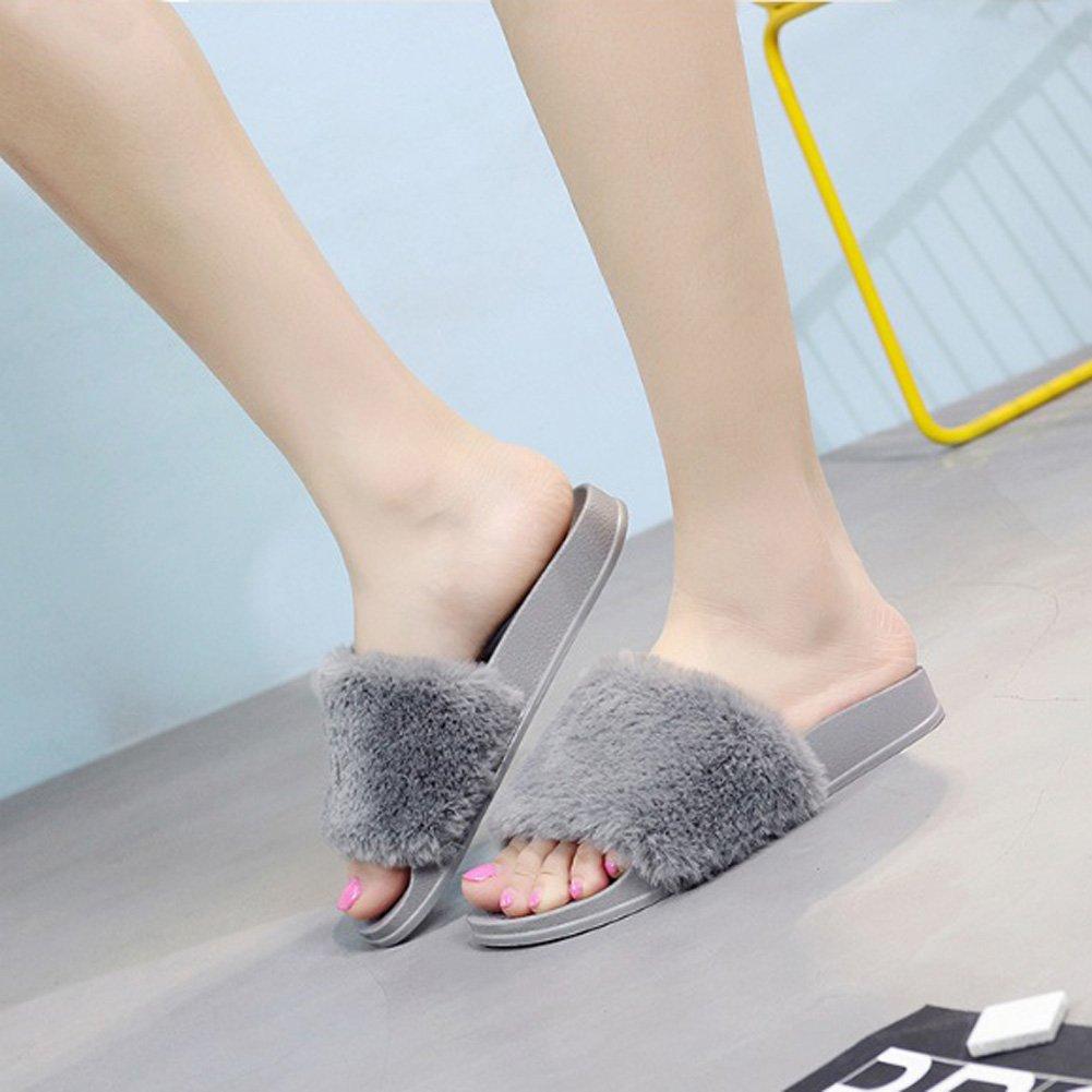 AlgaMarina Flip Women's Flip AlgaMarina Flop Faux Fur SlipperGris 19a008