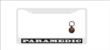 Amazon.com: Marco de metal cromado para placa de matrícula ...