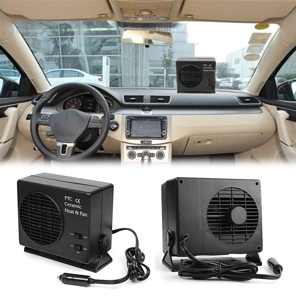 rosemaryrose Riscaldatore per Auto Portatile,2 in 1 Universale Auto Elettrica DC12V in Ceramica SUV 2020 Aggiornamento Rapido Riscaldamento Raffreddamento Asciugatore Scaldino 300W