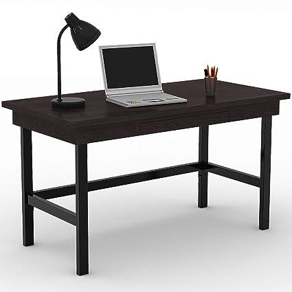 white computer desk with keyboard tray narrow tribesigns computer desk with pullout keyboard tray 55quot large writing study amazoncom 55