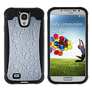 iKiki Tech / Estuche rígido - Water Rain Window Droplets Grey Textile Art - Samsung Galaxy S4 I9500