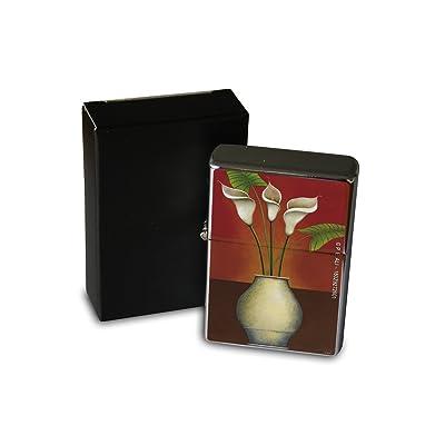 Briquet Chromé Essence Florale Flore Zantedeschia Rarement Imprimé