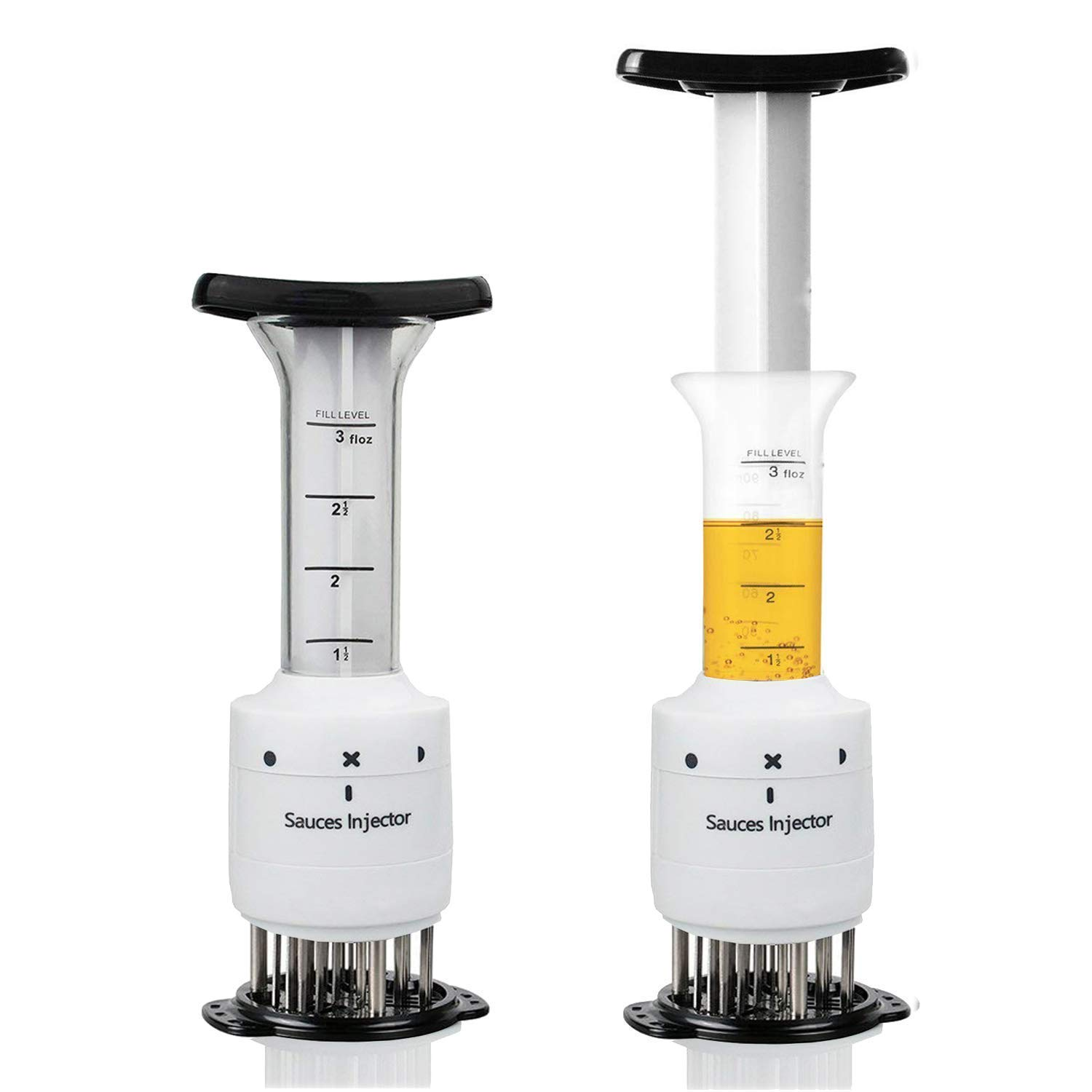 WizPower Marinade Meat Injector, 2 in 1 Meat Tenderizer Needle,Meat Flavor Injector Marinade Syringe and 30 Ultra Sharp Blade for Softening Meat (1)