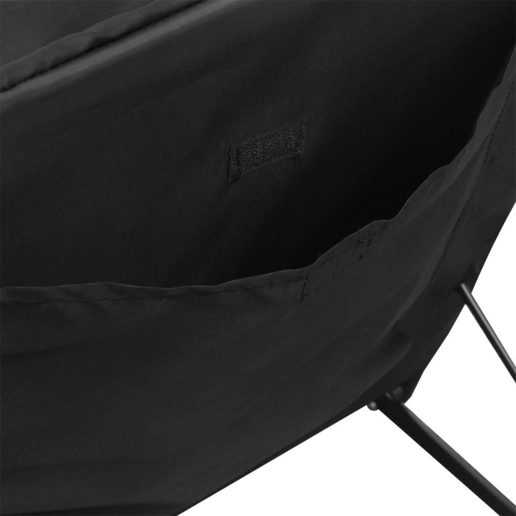vidaXL Esterilla de Playa Plegable con Respaldo 2 uds. Negro